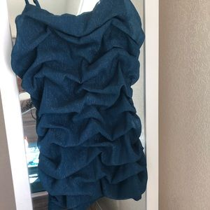 Express shimmery blue camisole top, NWT